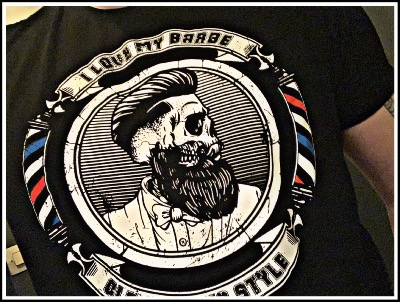 "T-SHIRT "" I LOVE MY BARBE "" SUPPORT YOUR BARBERSHOP"