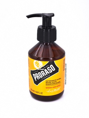 PRORASO SHAMPOOING BARBE WOOD & SPICE - 200ML